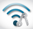 wifi signal and key illustration design