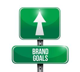 brand goals street sign illustration design