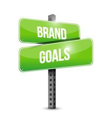 brand goals street sign illustration