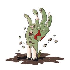 zombie hand halloween vektor isoliert