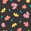 Cute floral seamless pattern. Vector background