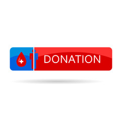 donation blood color vector