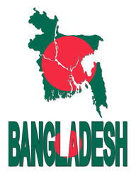 Bangladesh map flag and text illustration