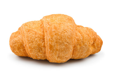 fresh and tasty croissant on isolated white