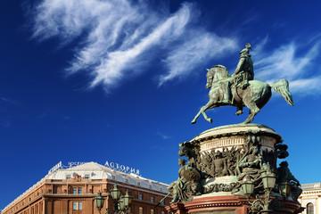 Monument of Nikolay I - 1859 - Klodt. Saint-Petersburg. Russia