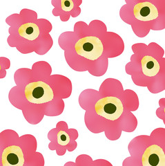 水彩・花柄