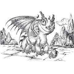 little funny dragon
