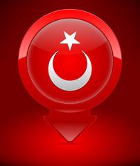 İllüstrasyon; Türk Bayrağı İkonu