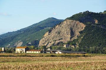 Paesaggio di campagna Toscana, Fattoria, agricoltura