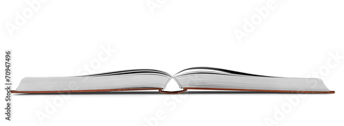 new open book on an isolated white background - 70947496