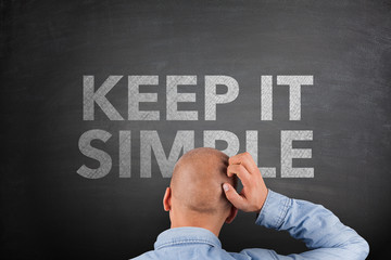 Keep It Simple Concept on Blackboard