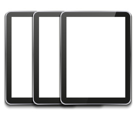 vector modern computer tablet on white
