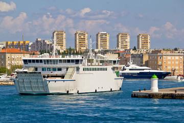 Zadar ferry and yacht harbor