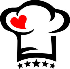 Chef`s Hat, Heart, 5 Stars, Cuisine, Cook