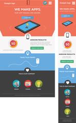Responsive web template - including mobile and desktop version