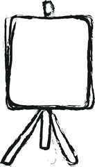 doodle easel with empty canvas