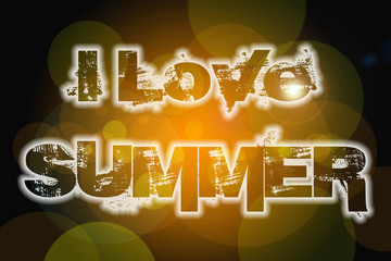 I Love Summer Concept
