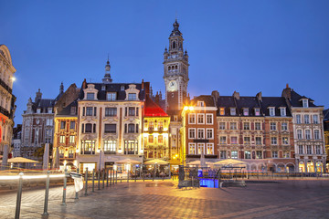 Buildings on the Grand Place in Lille