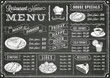 Grunge Chalkboard Restaurant Menu Template