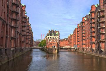 speicherstadt the old town of Hamburg, Germany