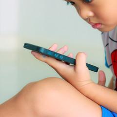 Boy on smartphone