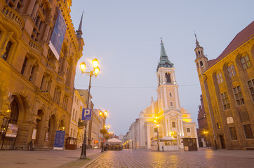 Early morning in Old Town of Torun, Poland
