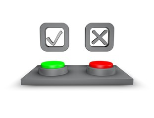 choice concept yes and no buttons
