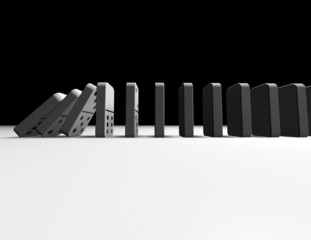 falling dominoes abstract influence concept illustration