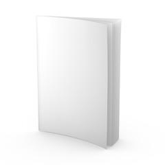 empty magazine, newspaper, leaflet or any publication isolated