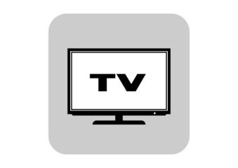 TV icon on white background