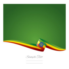 Abstract color background Ethiopian flag vector