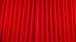 red theater velvet curtains opening (zoom)