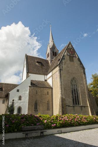 canvas print picture Kirche des ehemaligen Klosters in Kappel am Albis