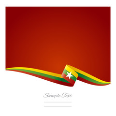 Abstract color background Burmese flag vector