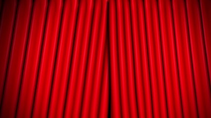 red theatre velvet curtains opening