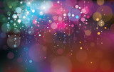 Vector colorful lights background. - 70952427