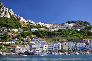 Malownicza Marina Grande na wyspie Capri we Włoszech