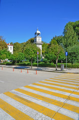 Ioannina  city time - clock in the center of the city
