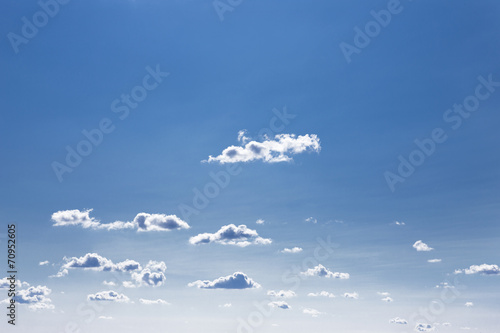 canvas print picture Wolken am Himmel