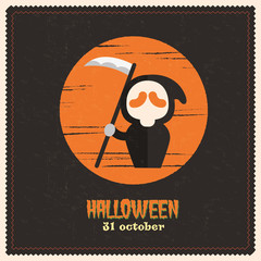 halloween set of vector labels and stickers