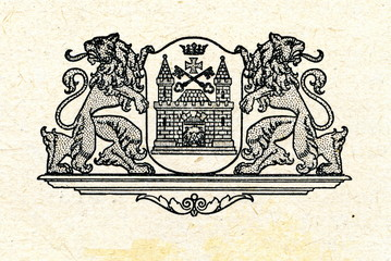 Coat of arms of Riga, Latvia ca. 1930