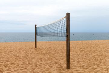 Beach volleyball net.