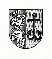 Coat of arms of Ainaži, Latvia ca. 1930
