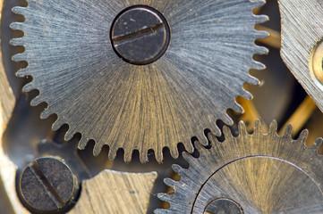 Background with metal cogwheels a clockwork. Conceptual photo