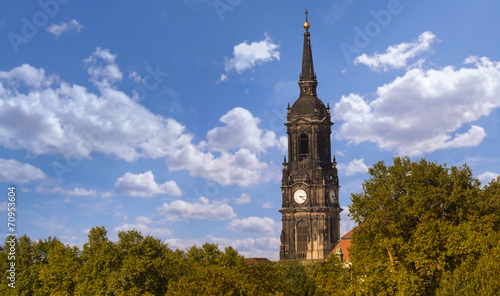 canvas print picture kirche in dresden