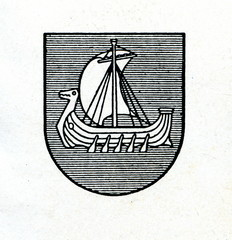 Coat of arms of Kraslava, Latvia ca. 1930