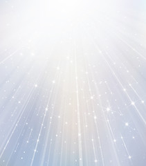 Vector white background with rays and stars.
