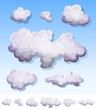 Cartoon Smoke, Fog And Clouds Set