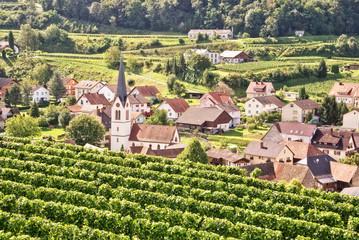 Village of Bickensohl, Kaiserstuhl, Germany