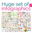 Huge mega set of infographic templates - 70954619